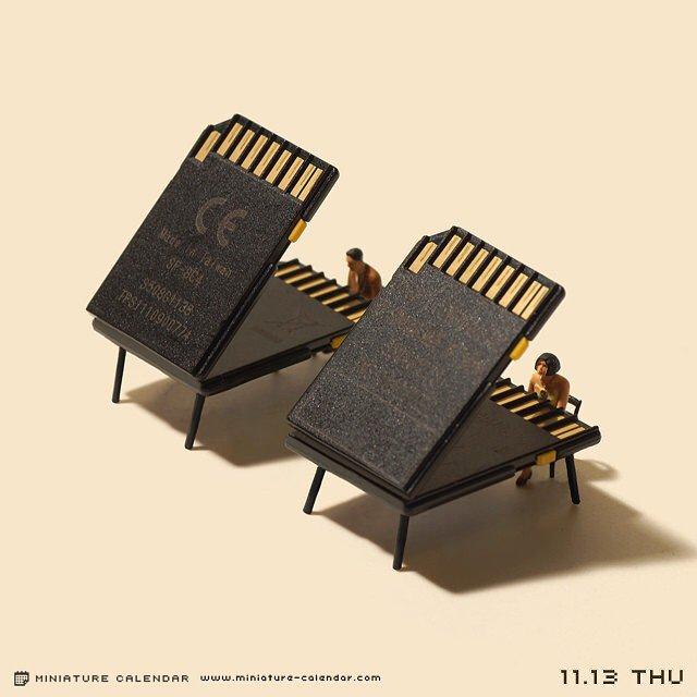 calendario de figuras en miniatura de tatsuya tanaka 15