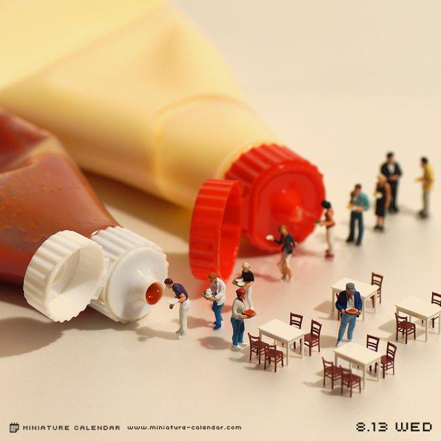 calendario de figuras en miniatura de tatsuya tanaka 9