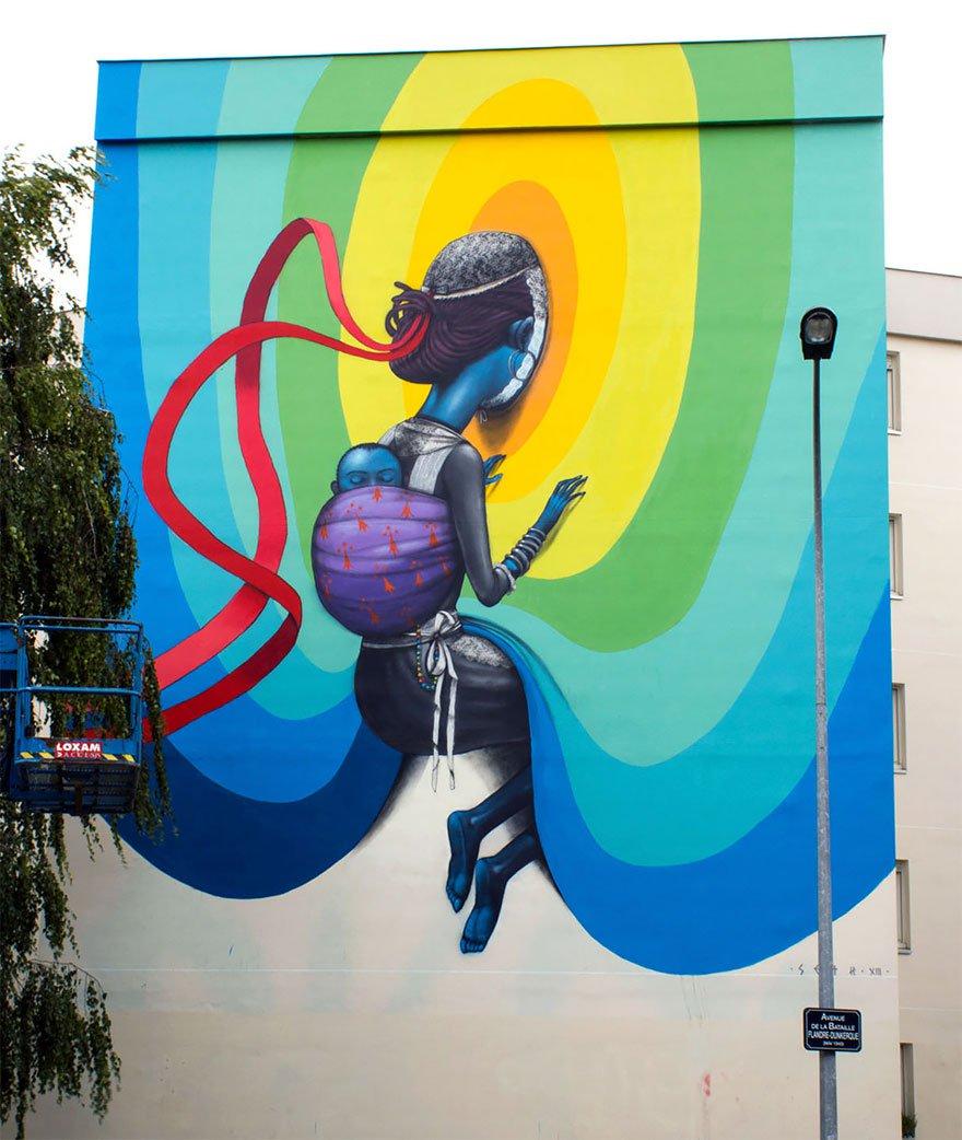 grafitis del artista callejero julien malland seth globepainter 14