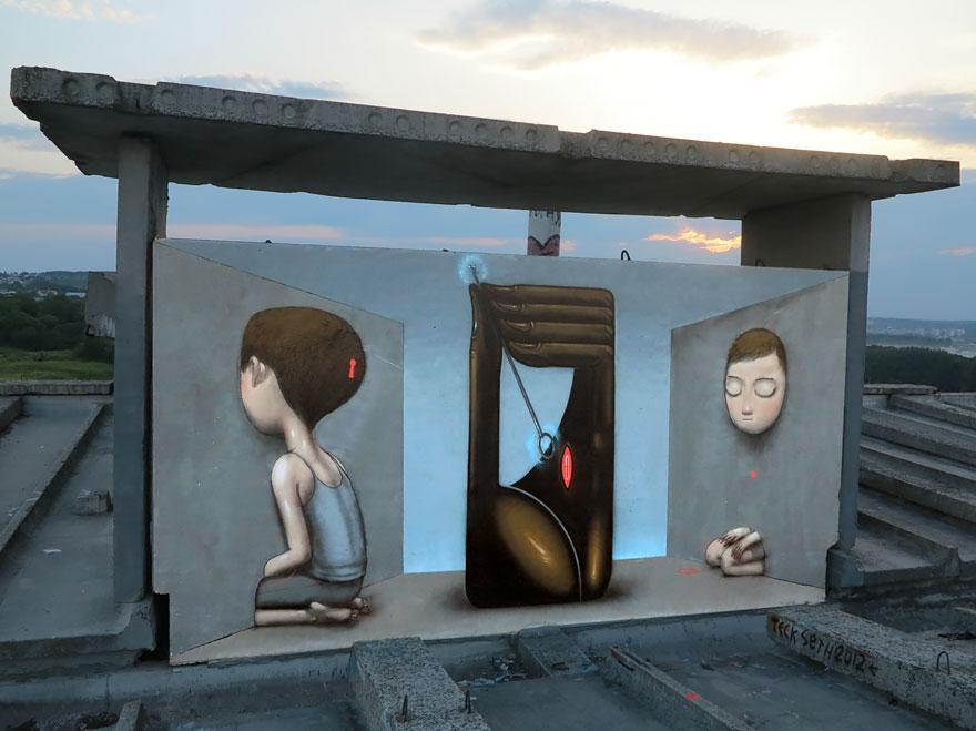 grafitis del artista callejero julien malland seth globepainter 23