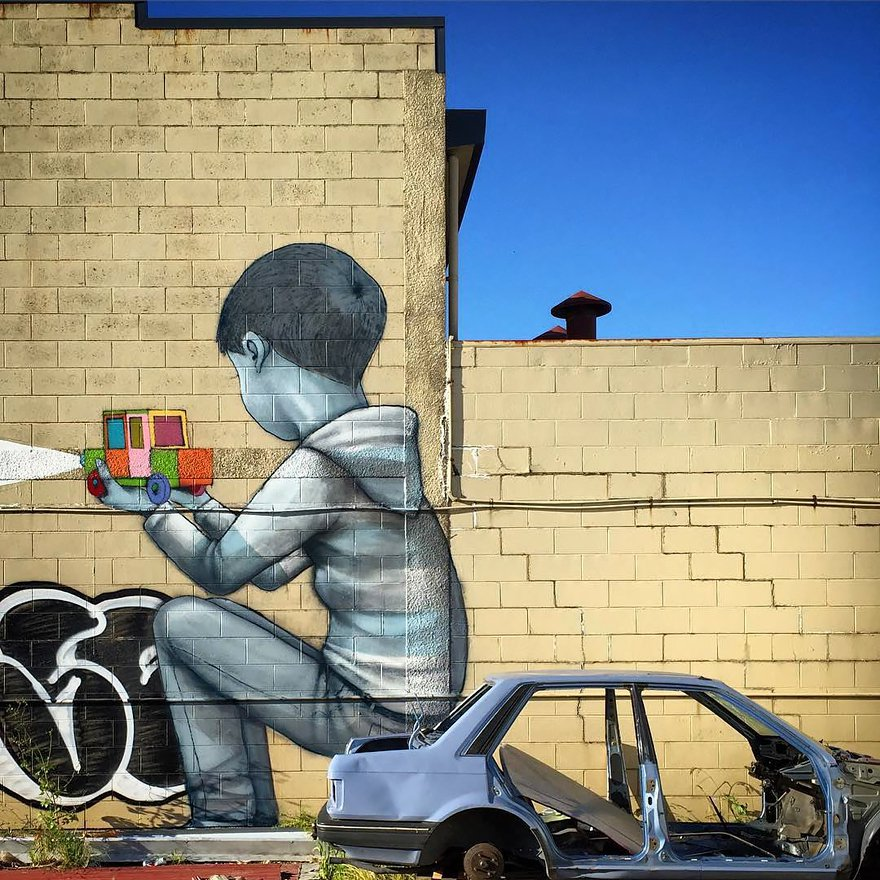 grafitis del artista callejero julien malland seth globepainter 24