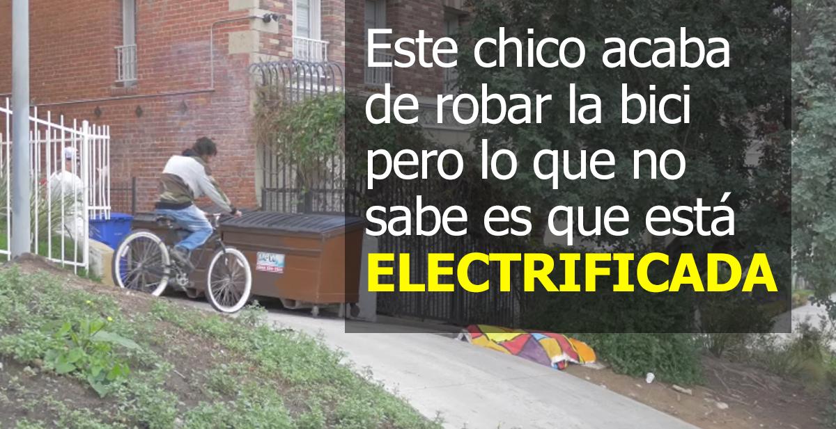la broma de la bici electrificada