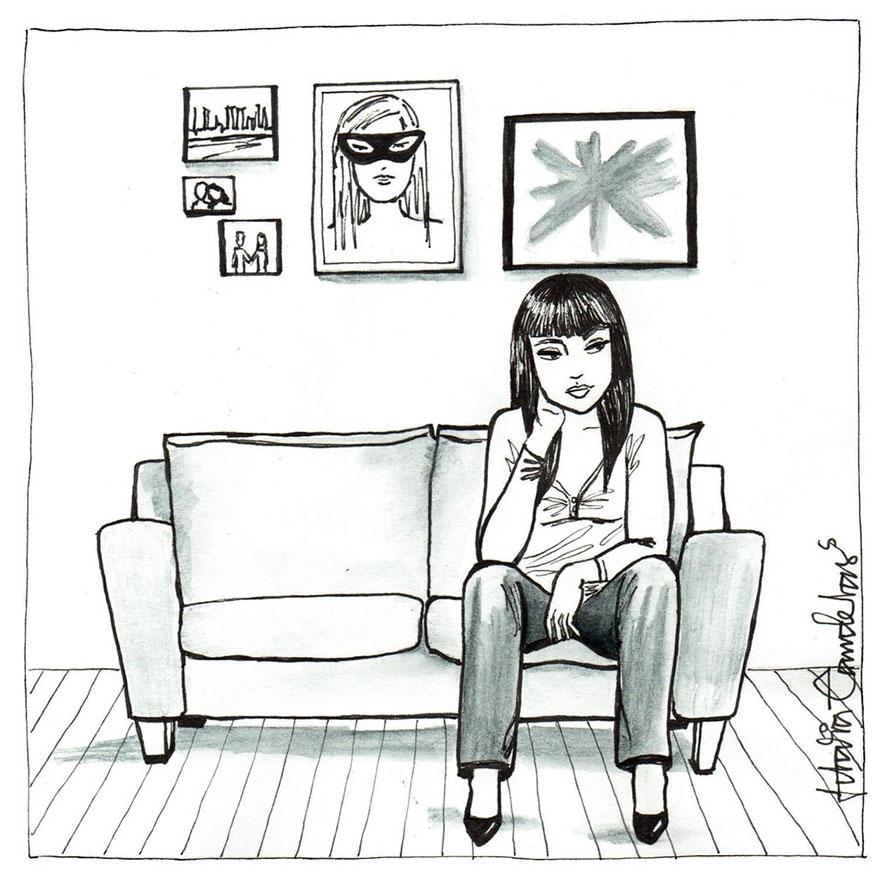 Ilustraciones que reflejan lo que es estar soltera por idalia candelas2