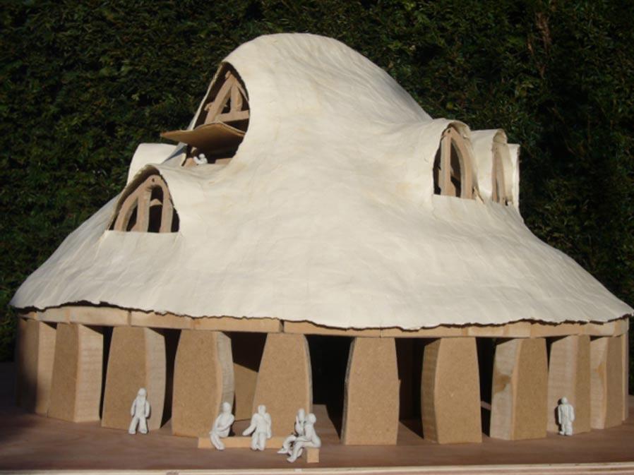 Maqueta de Stonehenge realizada por la arquitecta Sarah Ewbank