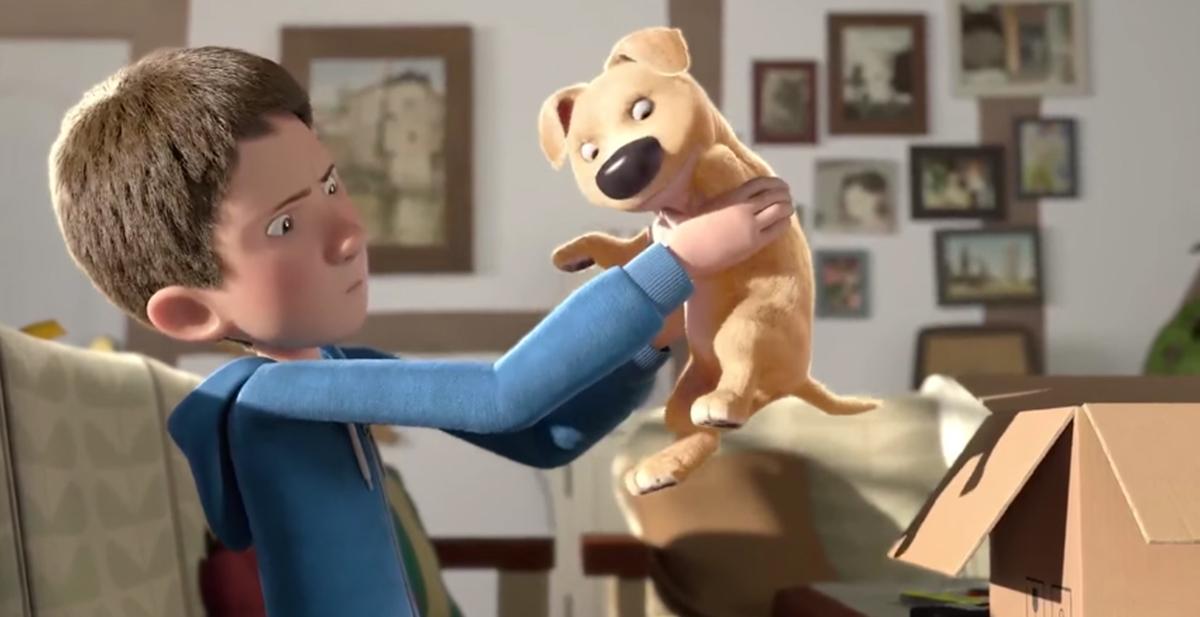 corto the present sobre un perro que le falta una pata