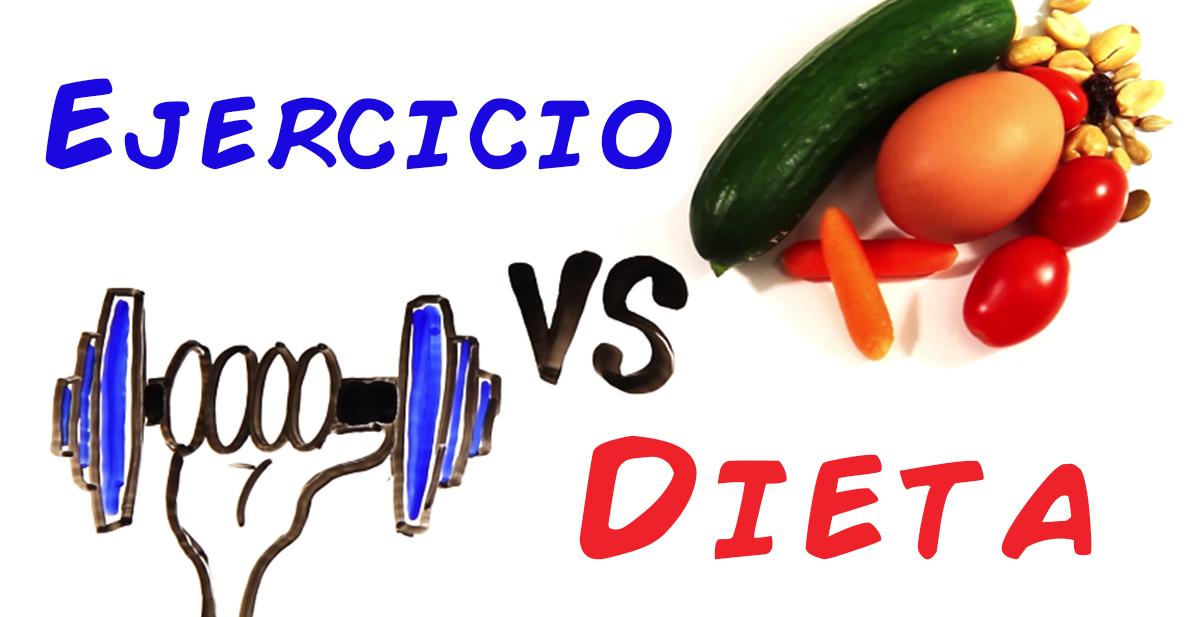 ejercicio vs dieta