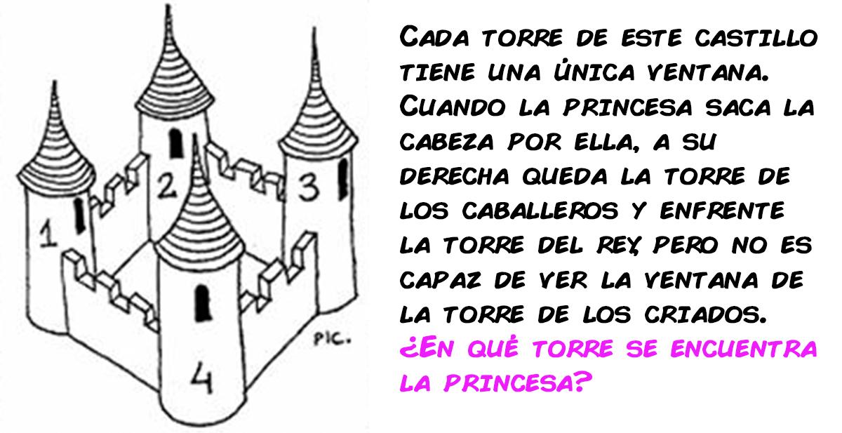el acertijo de las torres, la ventana y la princesa