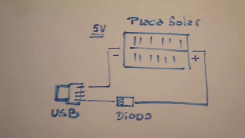 esquema cargador solar casero usb para smratphone
