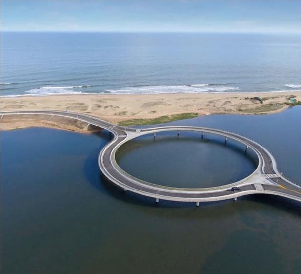 este puente en uruguay tiene forma circular por un motivo 1