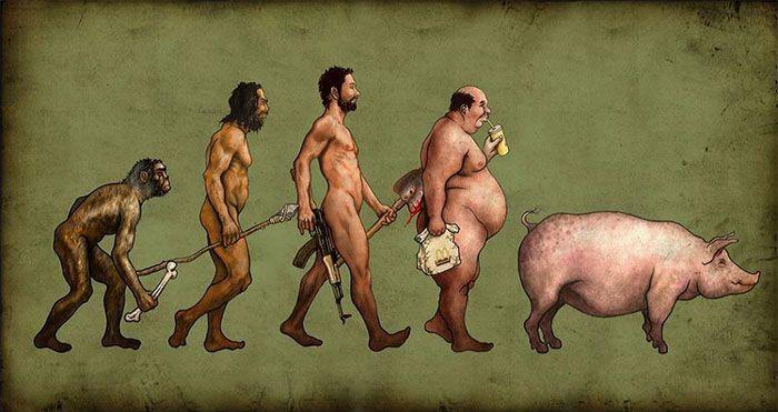 la evolucion en comicas viñetas 5