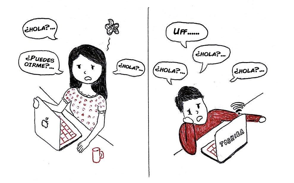 los problemas de llevar una relacion a distancia contado en viñetas 4