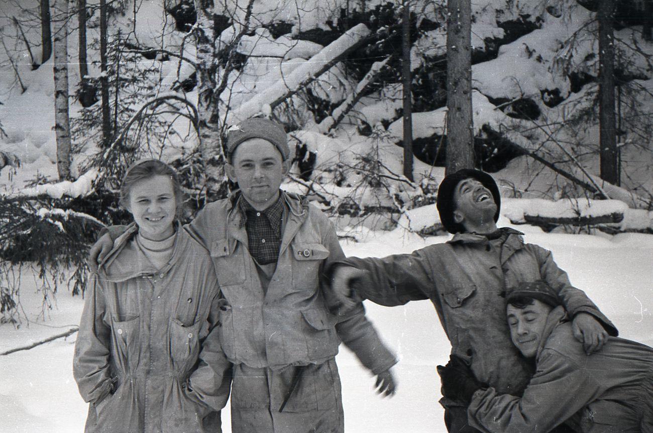 Lyudmila, Georgyi, Nicolas y Rustem.