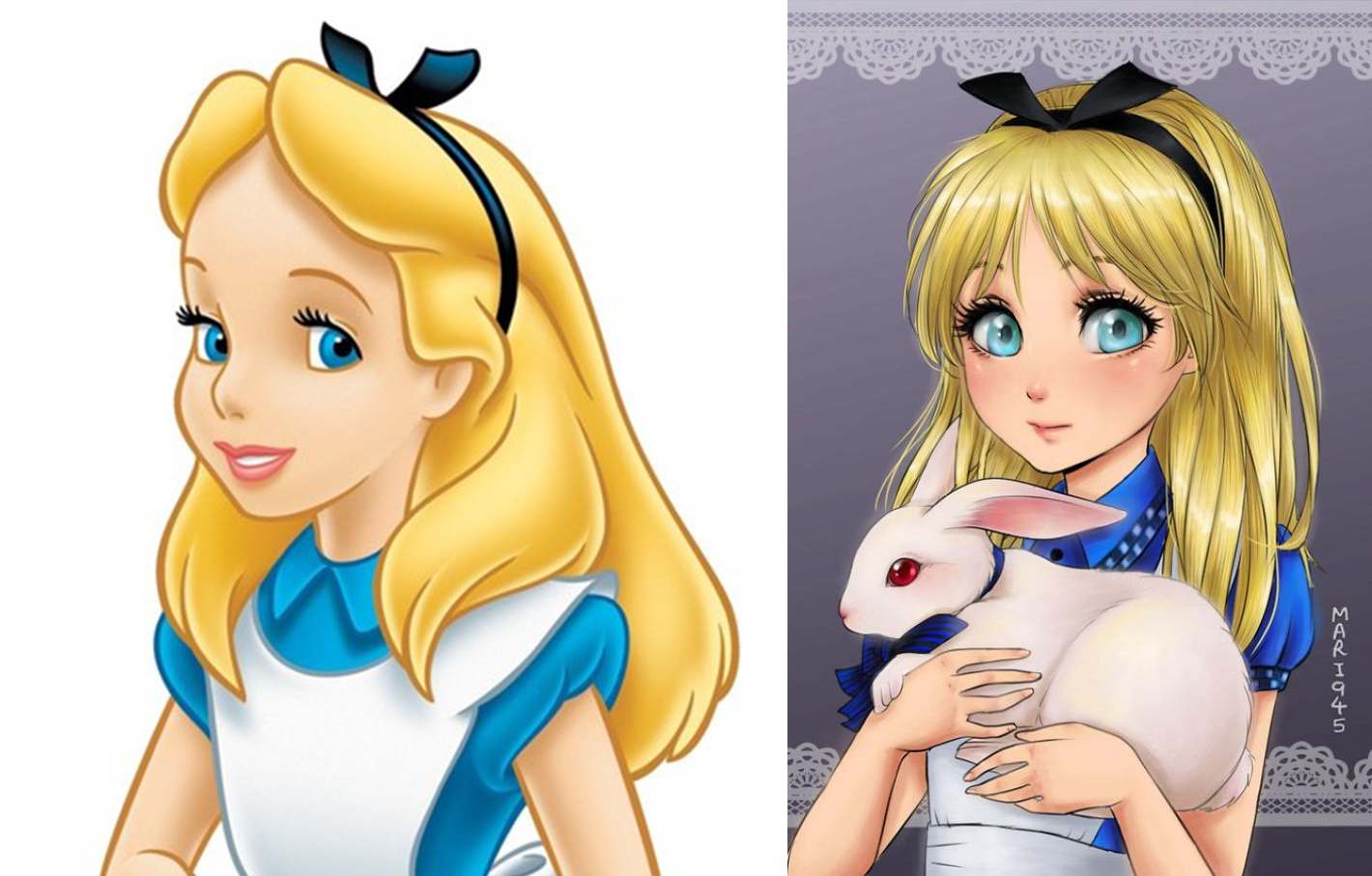 princesas disney version manga alicia
