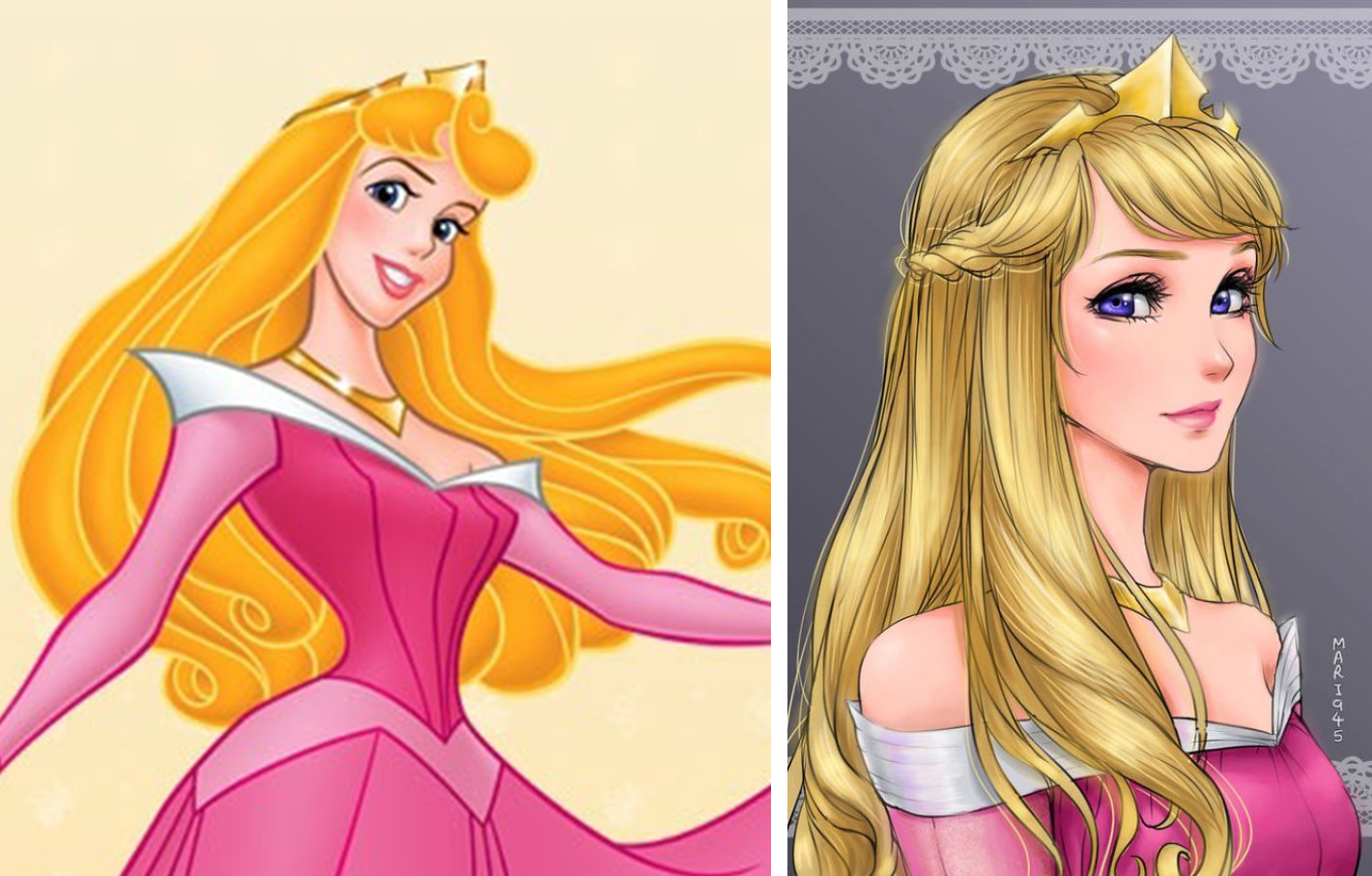 princesas disney version manga aurora