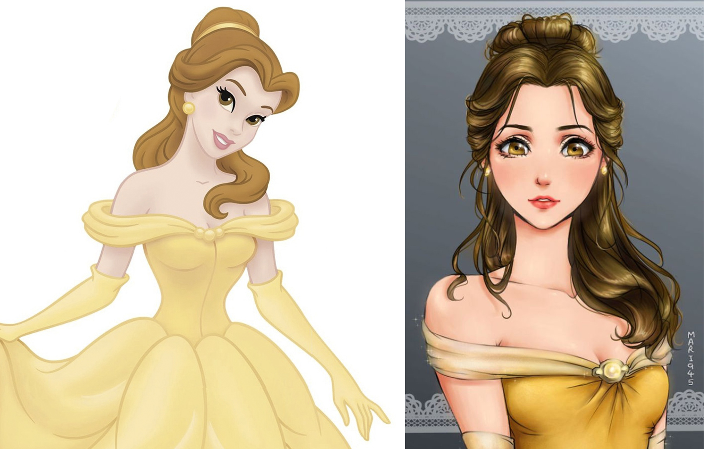 princesas disney version manga bella