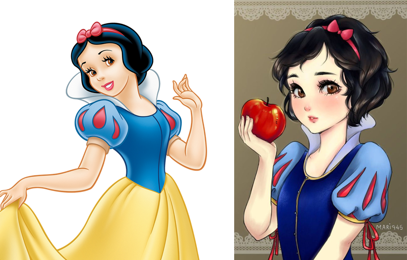 princesas disney version manga blancanieves
