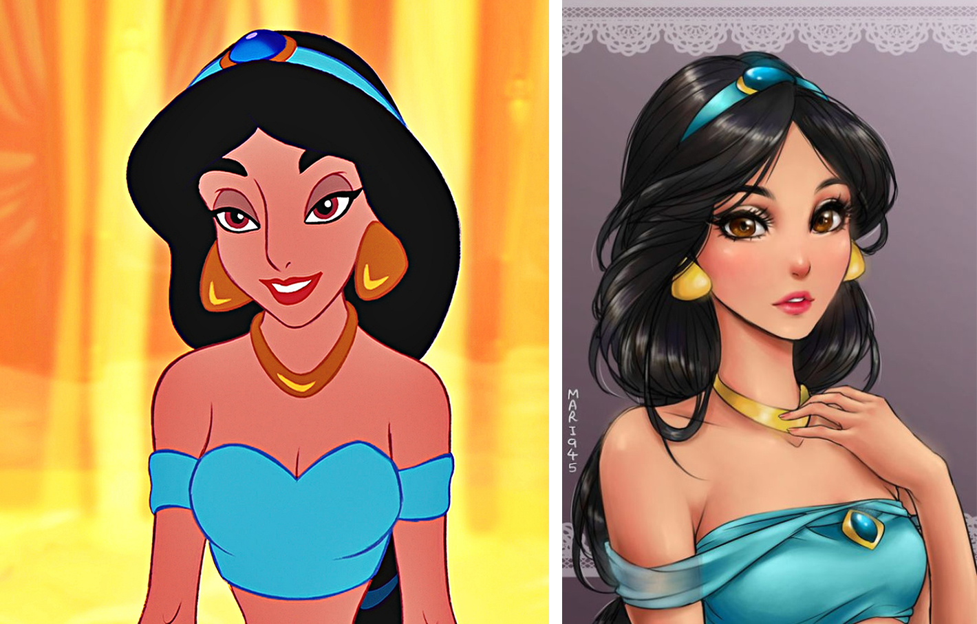 princesas disney version manga jasmine