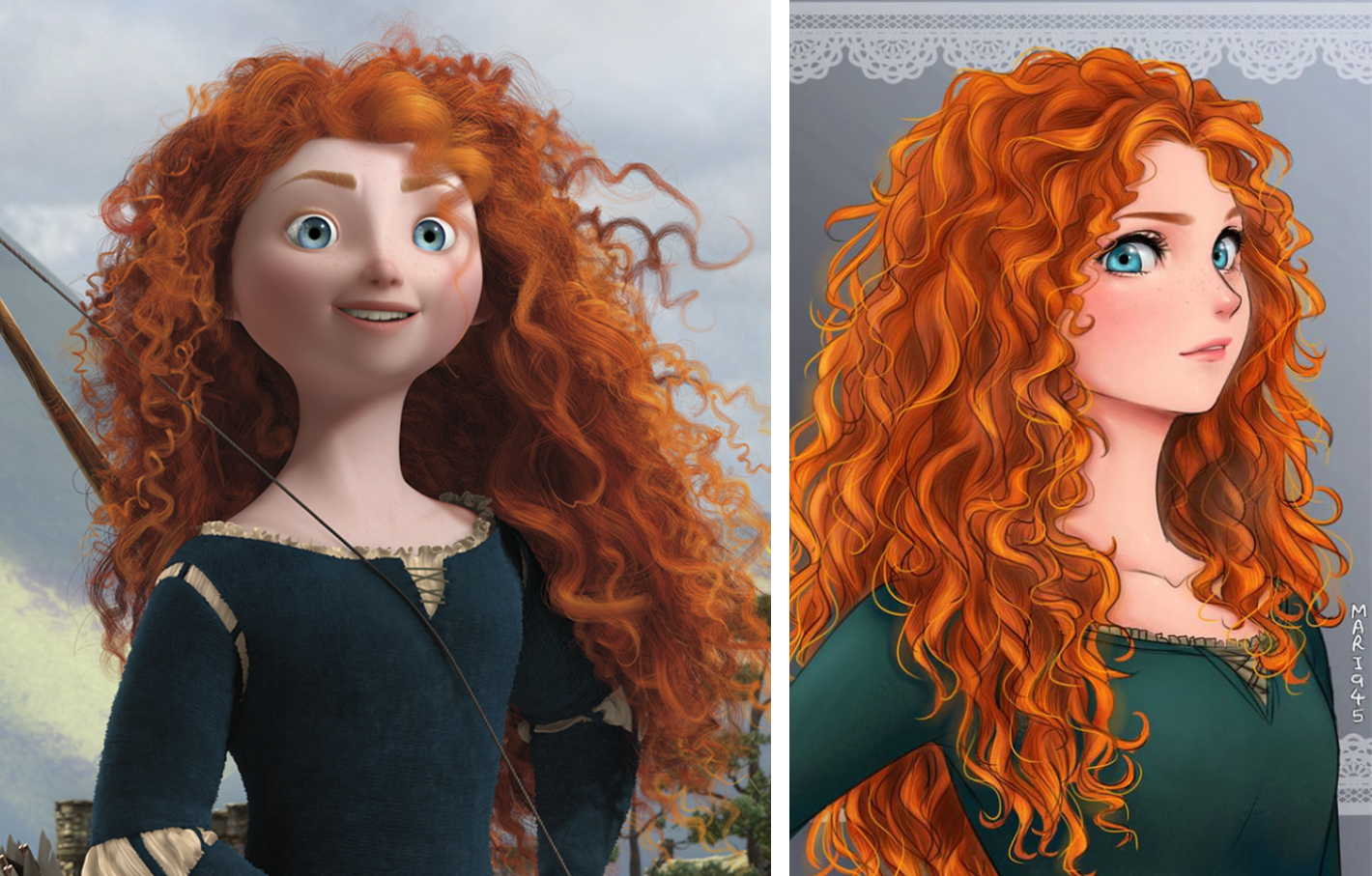 princesas disney version manga merida