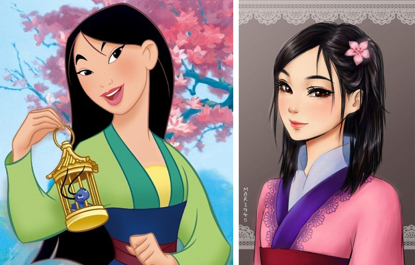 princesas disney version manga mulan