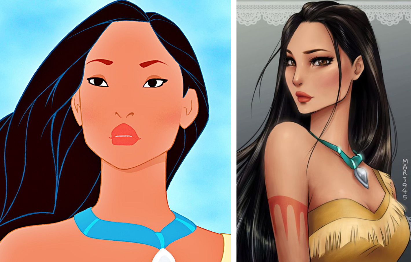 princesas disney version manga pocahontas