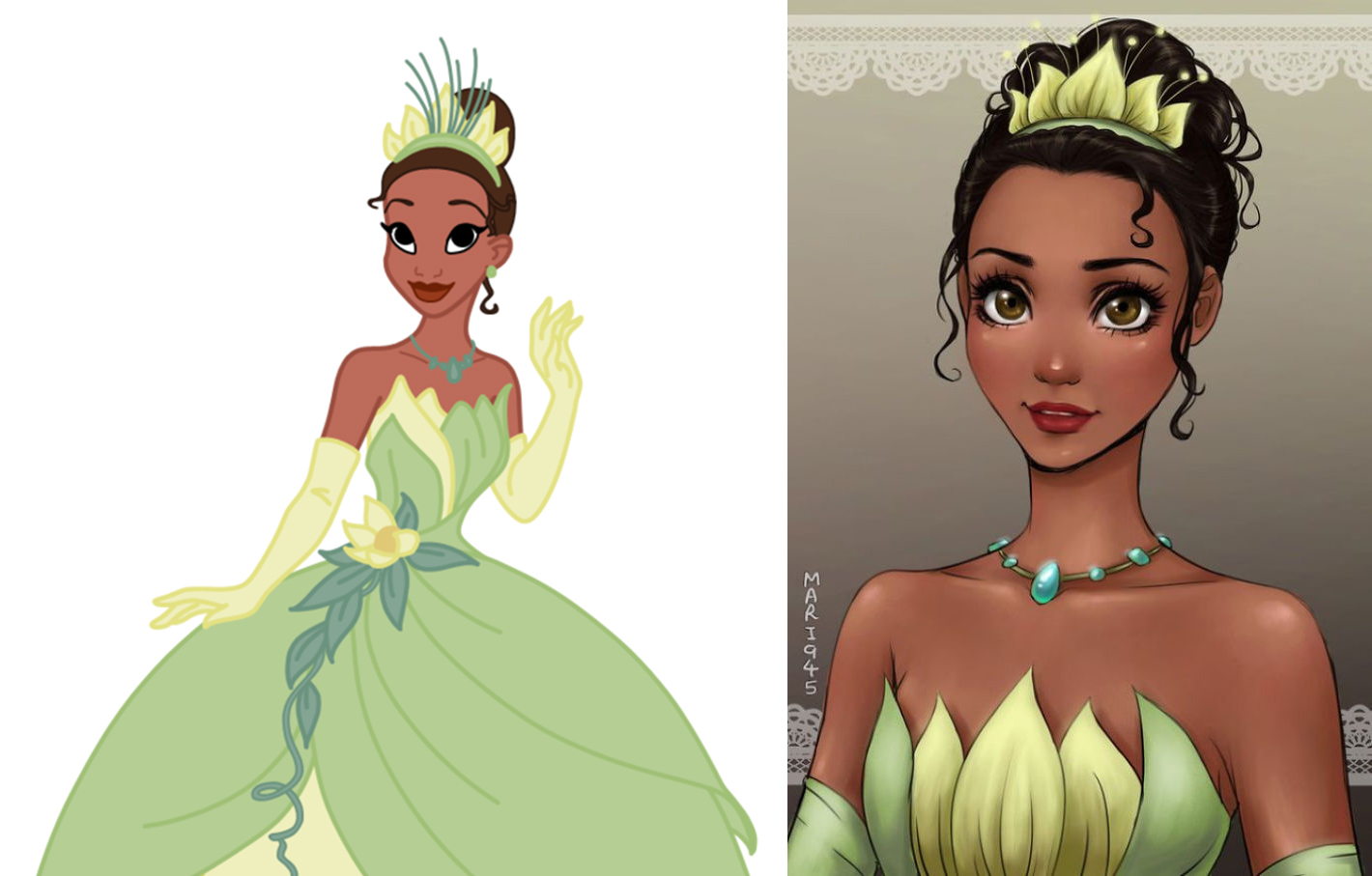 princesas disney version manga tiana