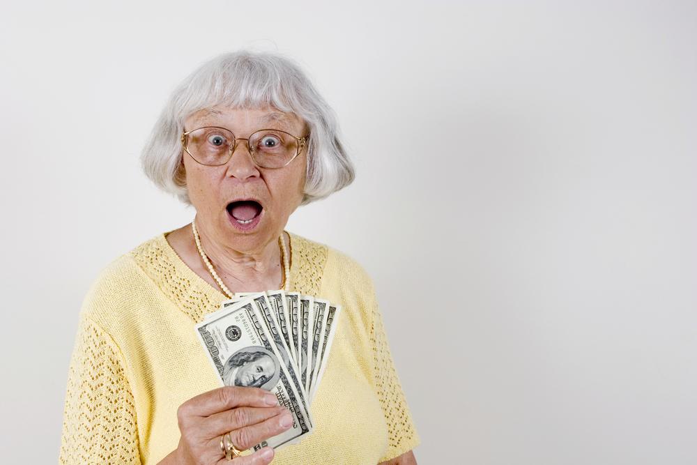 señora con dinero