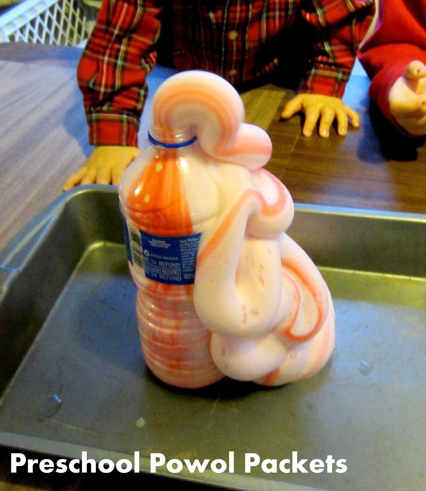 Experimento para niños de preescolar