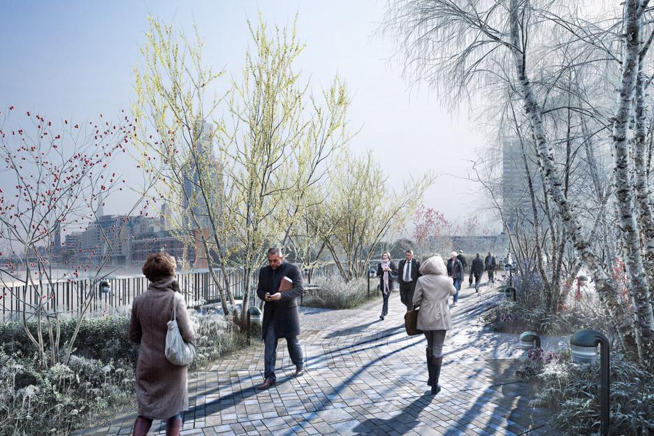 garden bridge el puente jardin que atravesara el rio thamesis 3