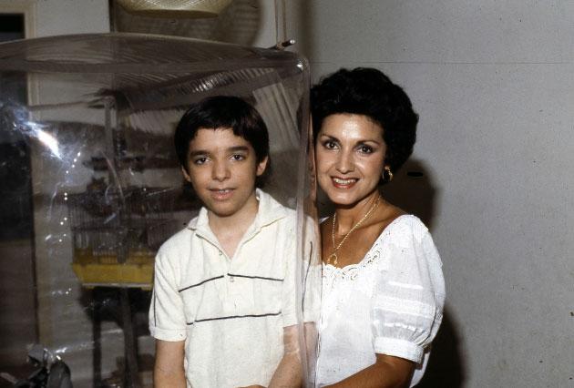 David y su madre