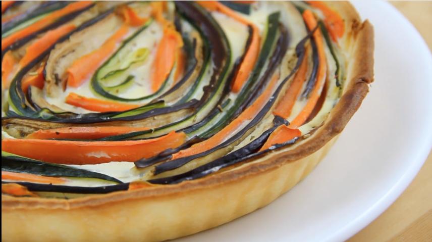 tarta de verduras al horno hacking food