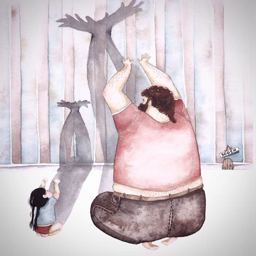 14 ilustraciones que reflejan el amor que sienten los padres por sus hijas 10