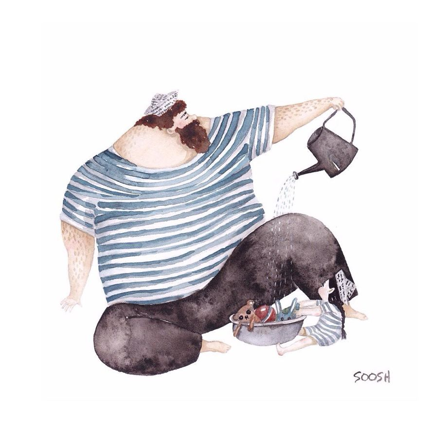 14 ilustraciones que reflejan el amor que sienten los padres por sus hijas 12