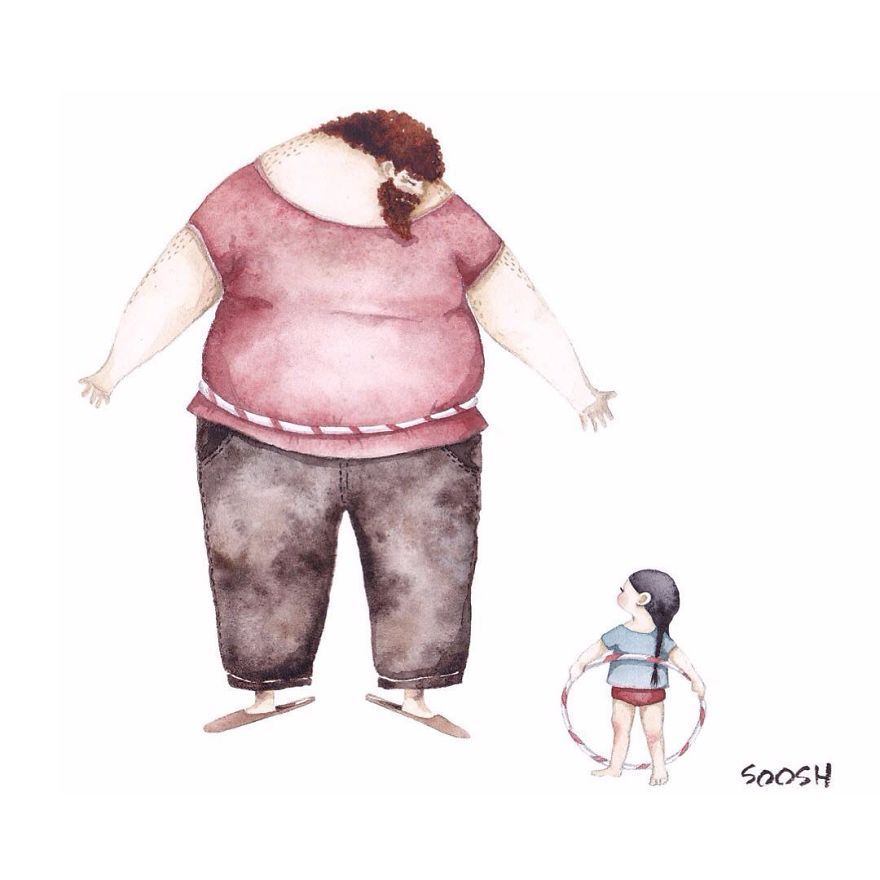 14 ilustraciones que reflejan el amor que sienten los padres por sus hijas 13