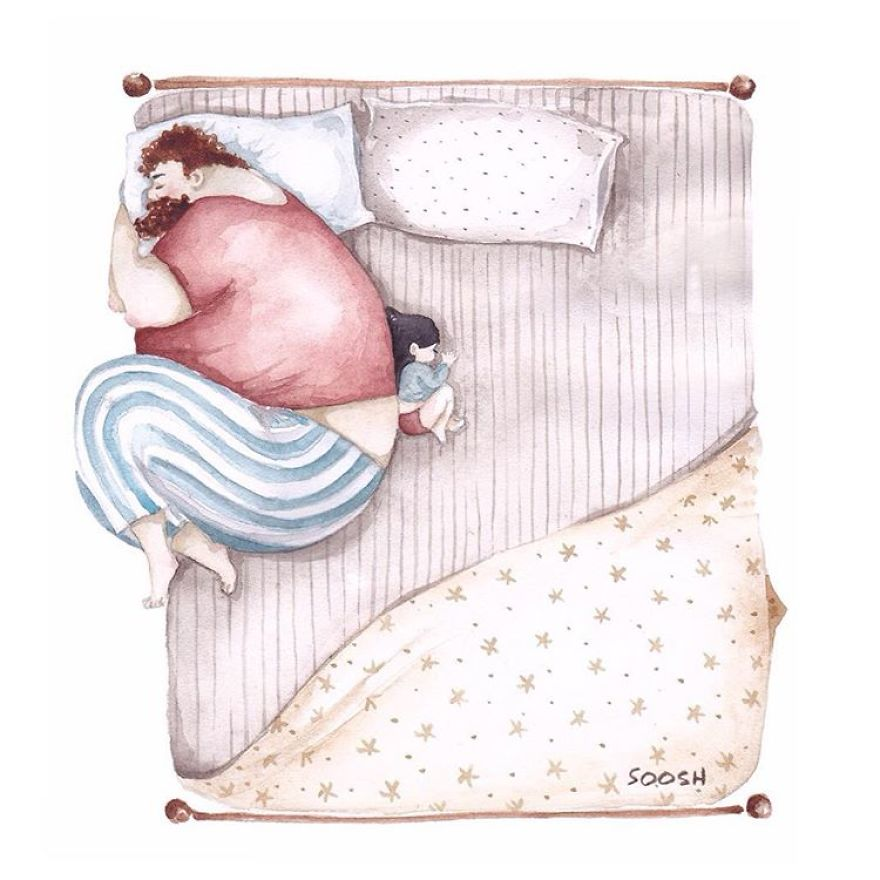 14 ilustraciones que reflejan el amor que sienten los padres por sus hijas 5