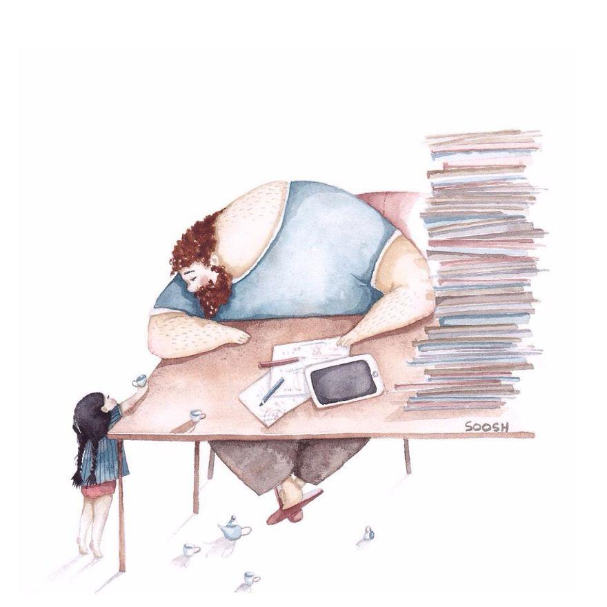 14 ilustraciones que reflejan el amor que sienten los padres por sus hijas 6