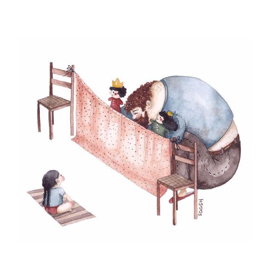 14 ilustraciones que reflejan el amor que sienten los padres por sus hijas 7