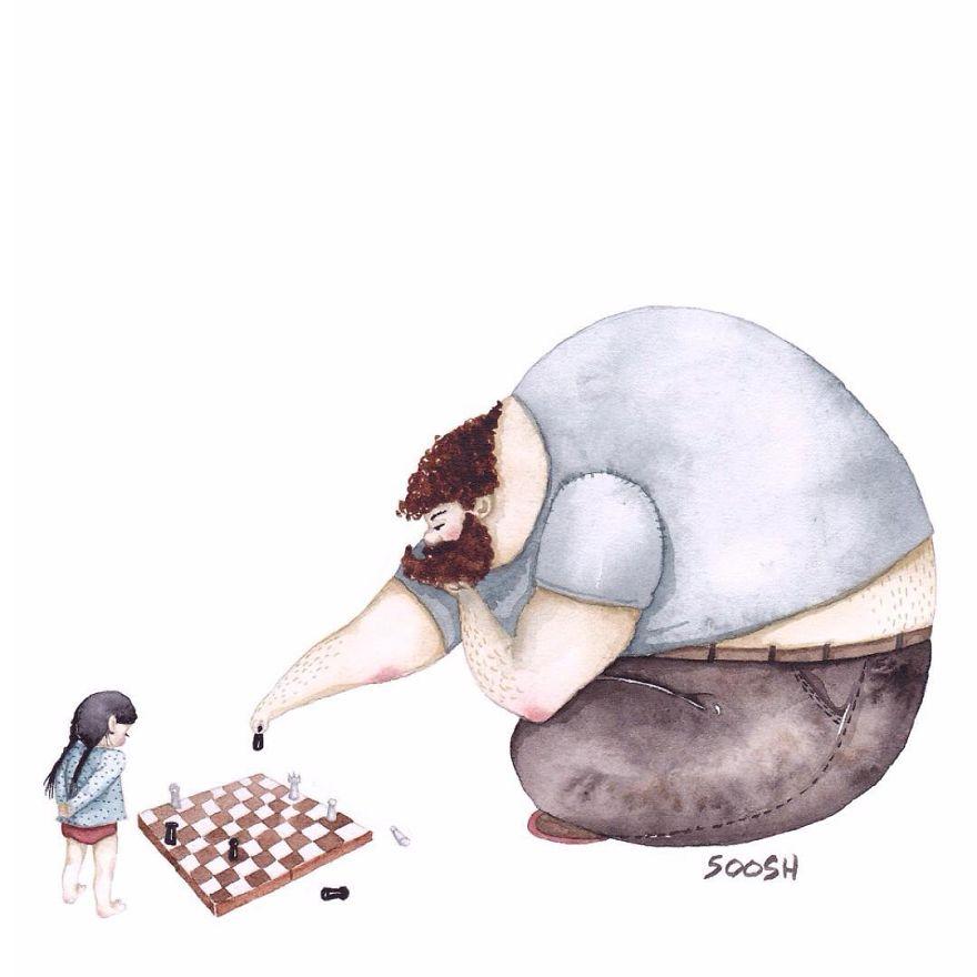 14 ilustraciones que reflejan el amor que sienten los padres por sus hijas 9