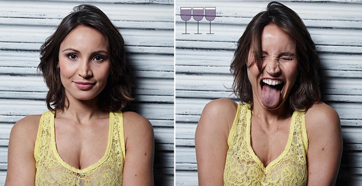 3 copas despues, el proyecto fotografico que nos muestra a las personas cuando beben vino