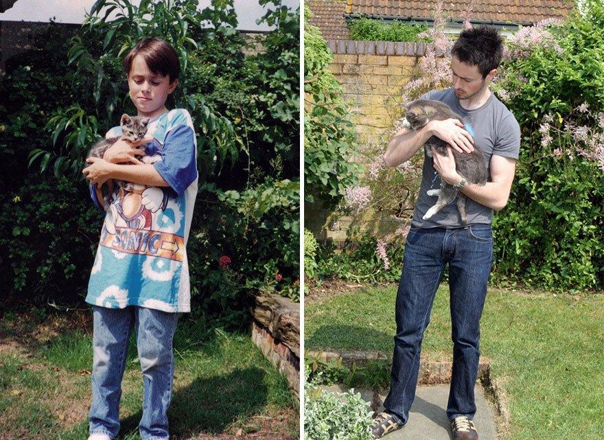 fotografias de gatos cuando eran pequeños y ahora de adultos 23