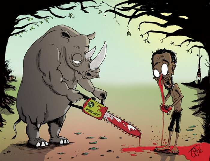 ilustraciones satiricas sobre animales en lugar de personas 1