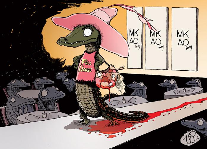 ilustraciones satiricas sobre animales en lugar de personas 16