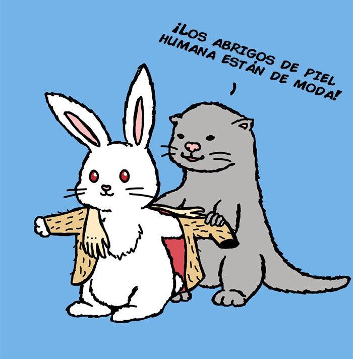 ilustraciones satiricas sobre animales en lugar de personas 171