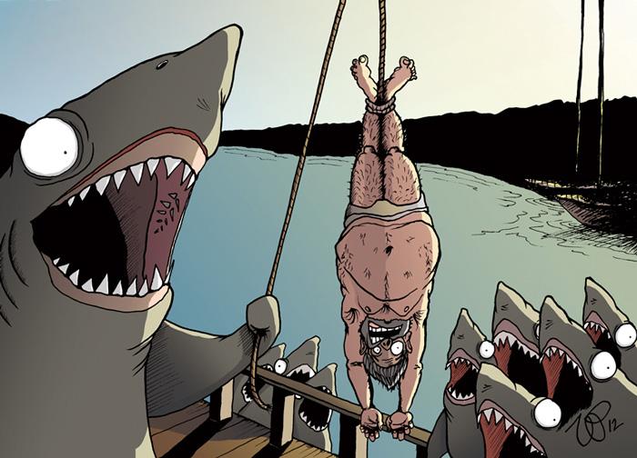 ilustraciones satiricas sobre animales en lugar de personas 20