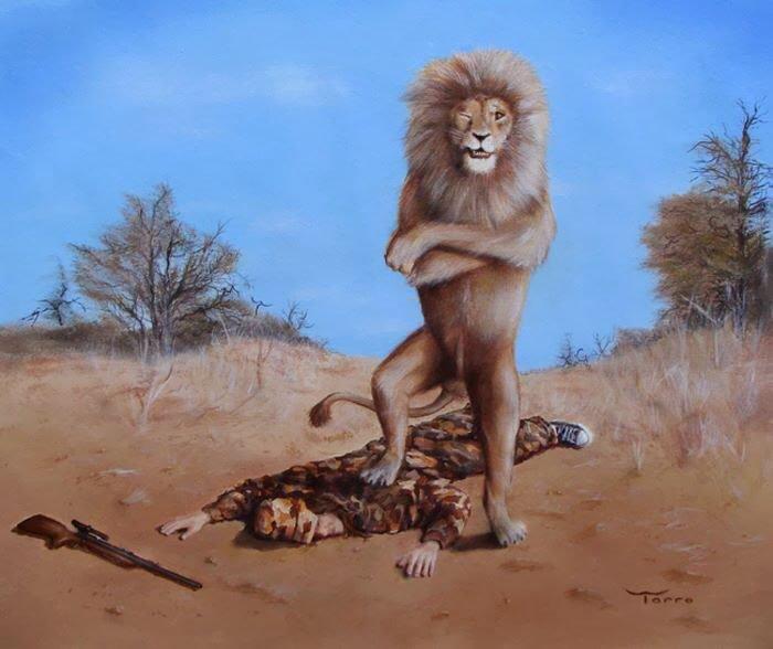 ilustraciones satiricas sobre animales en lugar de personas 21