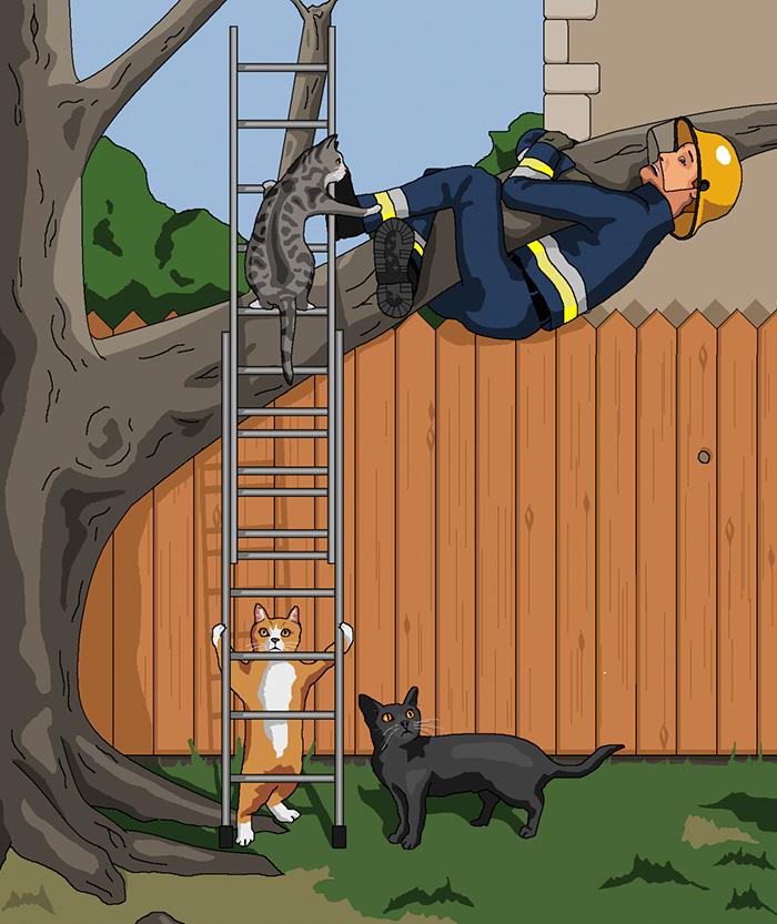 ilustraciones satiricas sobre animales en lugar de personas 22