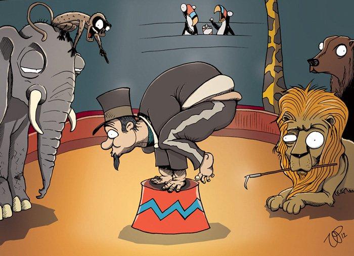 ilustraciones satiricas sobre animales en lugar de personas 23