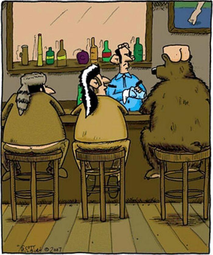 ilustraciones satiricas sobre animales en lugar de personas 24