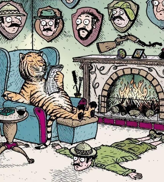 ilustraciones satiricas sobre animales en lugar de personas 26