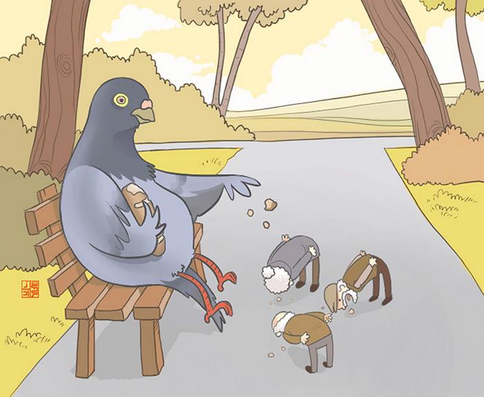 ilustraciones satiricas sobre animales en lugar de personas 28