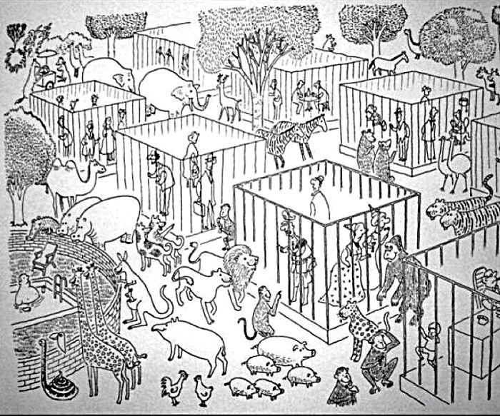 ilustraciones satiricas sobre animales en lugar de personas 29